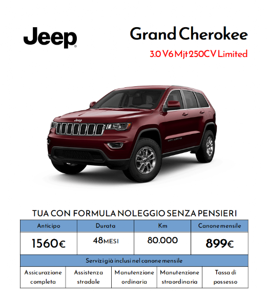 Noleggiare Jeep Grand Cherokee